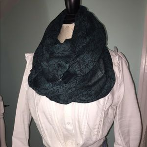 Turquoise and Black Scarf
